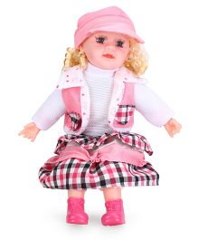 Smiles Creation Doll With Cap & Jacket White Pink - Height 53 cm