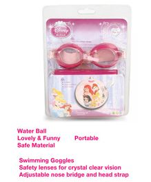 Disney Princess Swimming Goggles & Water Ball Combo Set - Dark Pink