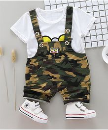 Awabox Boys Casual Wear Army Style Two Piece - White