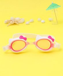 Hello Kitty Swimming Goggles - White & Pink