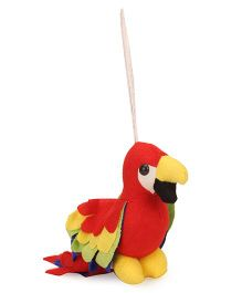 IR Mini Parrot Soft Toy Red - Height 16 cm