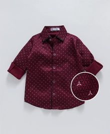 Knotty Kids Design Printed Shirt - Maroon