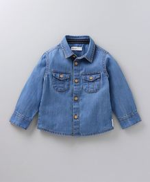 Babyoye Full Sleeves Denim Shirt - Blue
