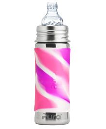 Pura Kiki Stainless Steel Bottle With Sippy Spout Pink - 325 ml