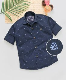 Jash Kids Full Sleeves Shirt Diamond Print - Navy Blue
