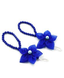Magic Needles Barefoot Sandals 5 Petal Flower - Dark Blue