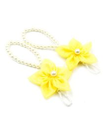 Magic Needles Barefoot Sandals 5 Petal Flower - Yellow