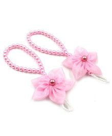 Magic Needles Barefoot Sandals 5 Petal Flower - Baby Pink