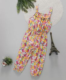 ToffyHouse Sleeveless Jumpsuit Fruits Print - Multi Color