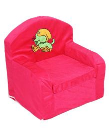 Luvely Sofa Chair Puppy Embroidery - Fuchsia