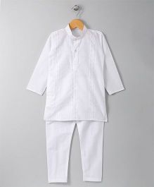 Jeet Ethnics Cotton Kurta And Pyjama Set - White