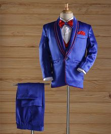 Jeet Ethnics Party Wear Coat Suit Set - Blue