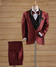 Jeet Ethnics Coat Suit Set - Maroon