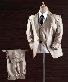 Jeet Ethnics Party Wear Coat Suit Set - Beige