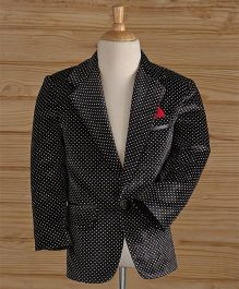 Jeet Ethnics Party Wear Dot Printed Blazer - Black