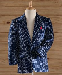 Jeet Ethnics Party Wear Dot Printed Blazer - Blue