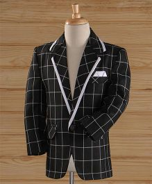 Jeet Ethnics Party Wear Blazer - Black & White