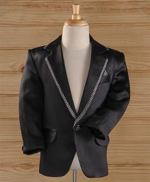 Jeet Ethnics Part Wear Blazer - Black