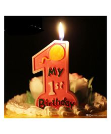 Funcart My 1st Birthday Candle - Neon Pink