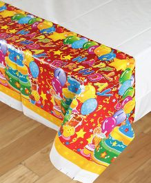 Funcart Three Tier Cake Theme Plastic Cover Sheet - Multicolor