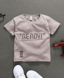 Amy Clothing Ready Printed Tee - Light Grey