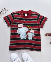 Baby Yi Elephant Applique Tee - Red