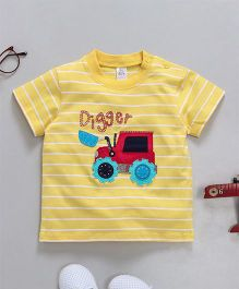 Baby Yi Vehicle Applique Tee - Yellow