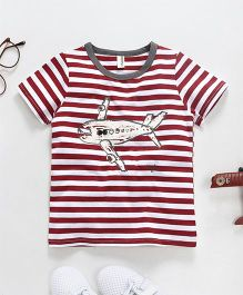 Baobaoshu Airplane Print Tee - Red