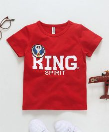 Baobaoshu King Spirit Printed Tee - Red