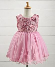 Aodaya Pearls Embellished Party Wear Dress - Pink