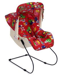 Infanto 7 In 1 Swing Bouncer Animal Print - Red