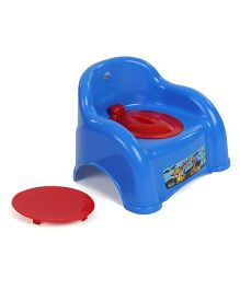 Ratnas Potty Chair With Lid Animal Print - Blue