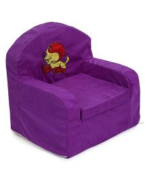 Luvely Sofa Chair Puppy Embroidery - Dark Purple
