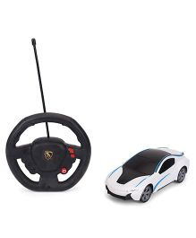 Dr. Toy Non Chargeable RC Car With Staring Remote - White