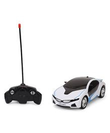 Dr. Toy Non Chargeable RC Car With 3D Light - White