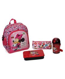 Disney Minnie Mouse School Kit Character Print Pack of 4 - Pink