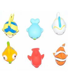 Vibgyor Vibes Aquatic Themed Bath Toy Set of 6 - Multicolour