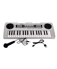 Toyshine 37 Keys Piano With USB Charging & Microphone - Grey