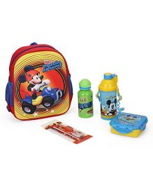 Disney Mickey Mouse & Friends School Kit Pack of 5 - Blue Red