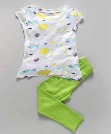Ventra Turtle Nightwear - White & Green