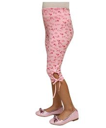 D'chica  Looks Chic Capri Leggings - Pink