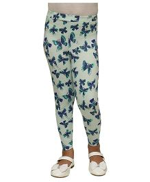 D'chica Summer Butterflies Leggings - Blue
