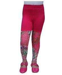 D'chica Gorgeous Net Leggings - Fuschia