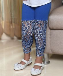 D'chica Lovely  Net Leggings - Blue
