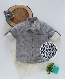 Rikidoos Printed Shirt - Grey