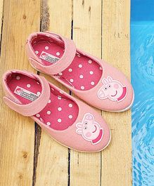 Peppa Pig By D'chica Pig Applique Mary Janes - Pink