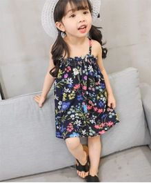 Pre Order - Tickles 4 U Floral Dress With Hat - Black
