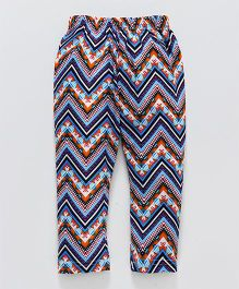 Earth Conscious Aztec Print Leggings - Blue