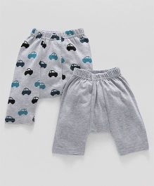 Earth Conscious Car Printed Diaper Pants - Grey
