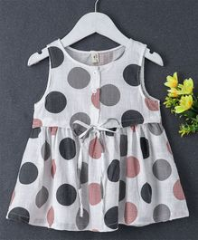 Fashion Baby Polka Dot Print Dress - Peach